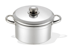 <strong>Pot With lid, Stainless Steel handles</strong>