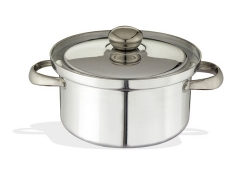 Pot With lid, Stainless Steel handles