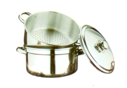 Steam Pot, Stainless Steel handles